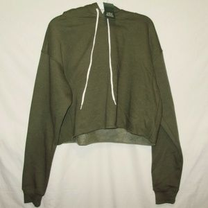 Wild Fable Womens Hoodie Size L Cropped Green New